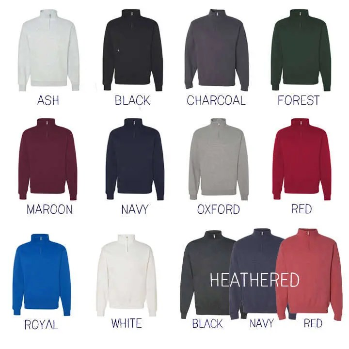 FREE Shipping  Monogram Pullover  Personalized Quarter Zip image 4