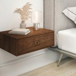 Solid Walnut Wood Floating Nightstand With Drawer Walnut Wood Hanging Bedside Table Scandinavian Mid Century Modern Minimalist