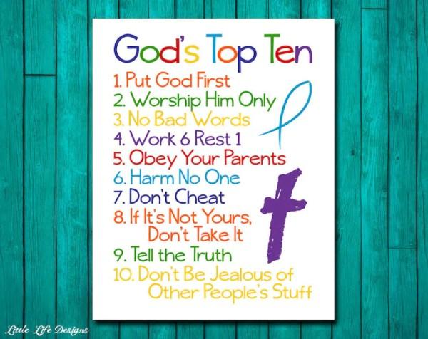 10 commandments bible # 10