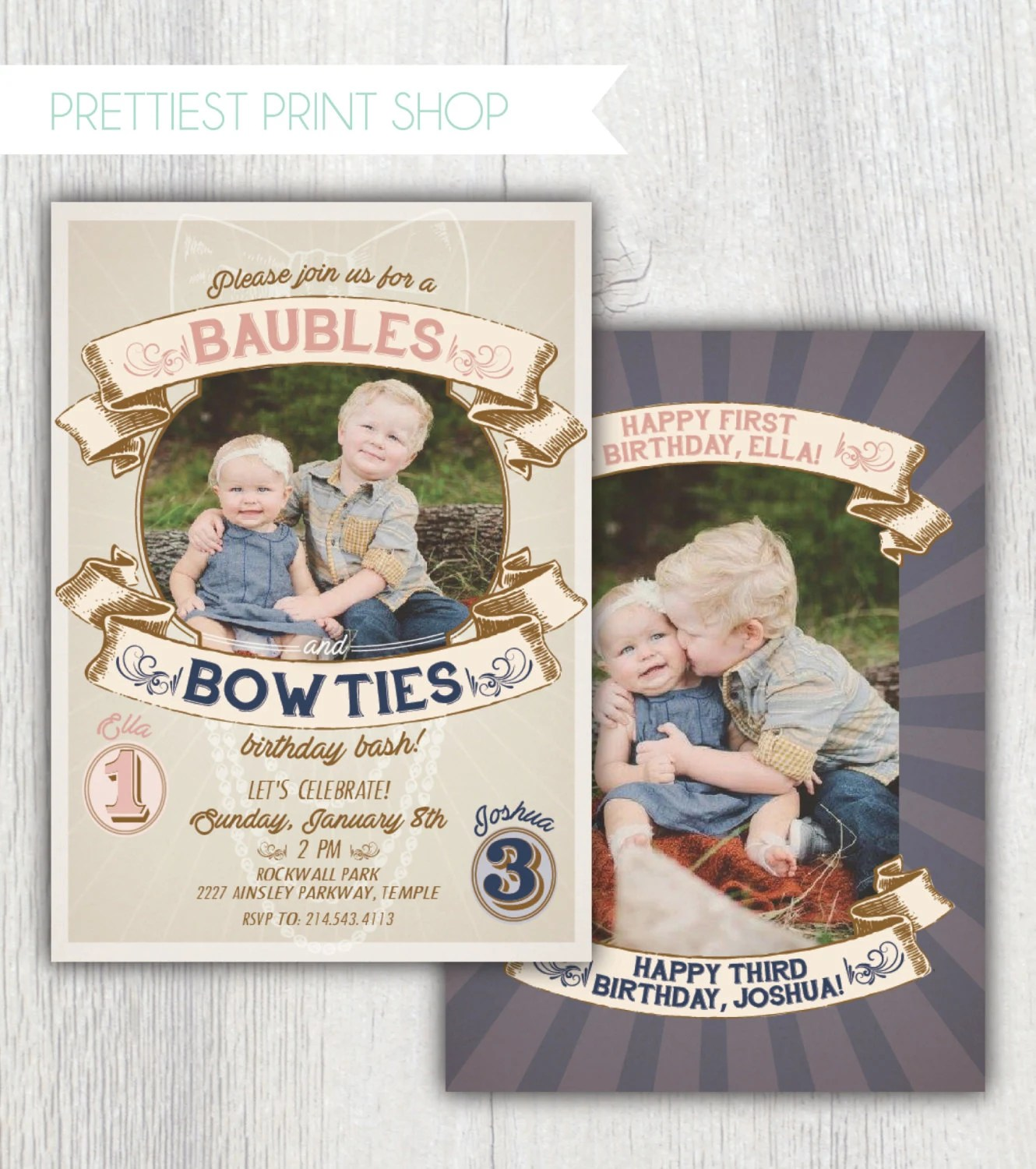 printable baubles and bow ties joint