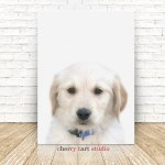 Golden Retriever Puppy Painting On Canvas Fine Art Print Digital Download