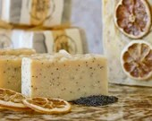 1 bar Lemon Pop: of natural, handmade soap with lemon & poppy seeds