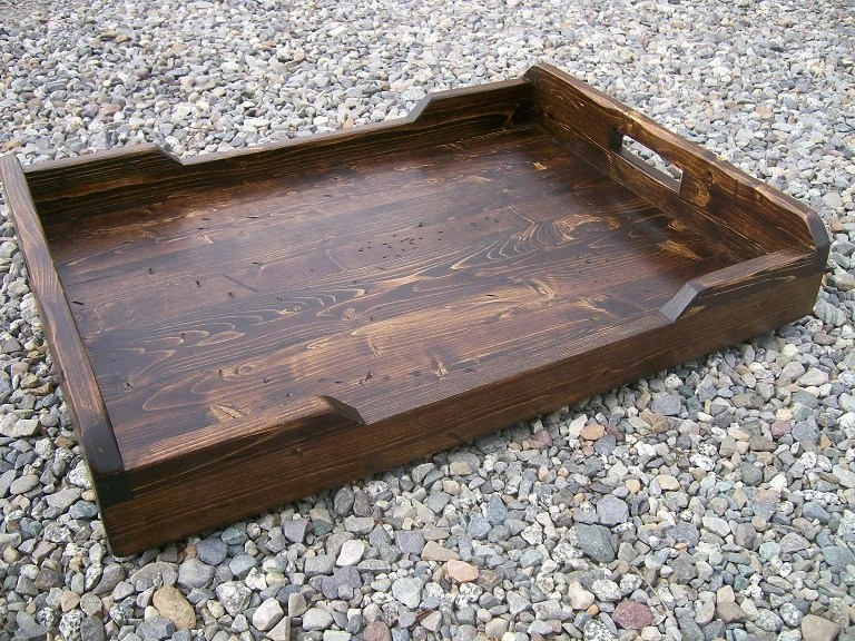 extra large rustic serving tray ottoman tray 30 x 18
