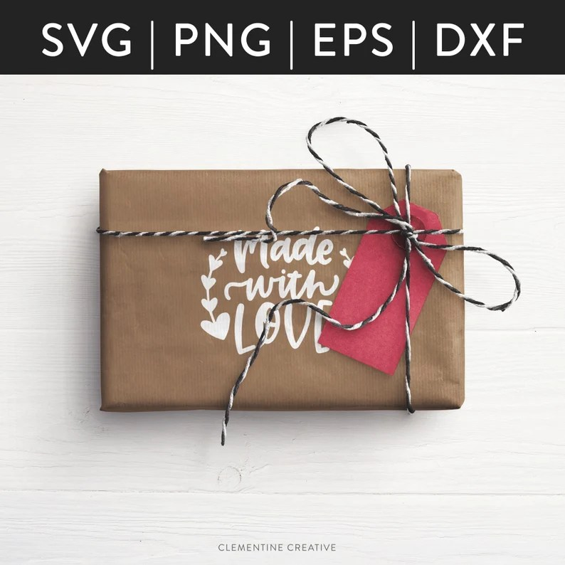 Download Handmade SVG Gift Tag SVG Made with Love SVG Cutting   Etsy