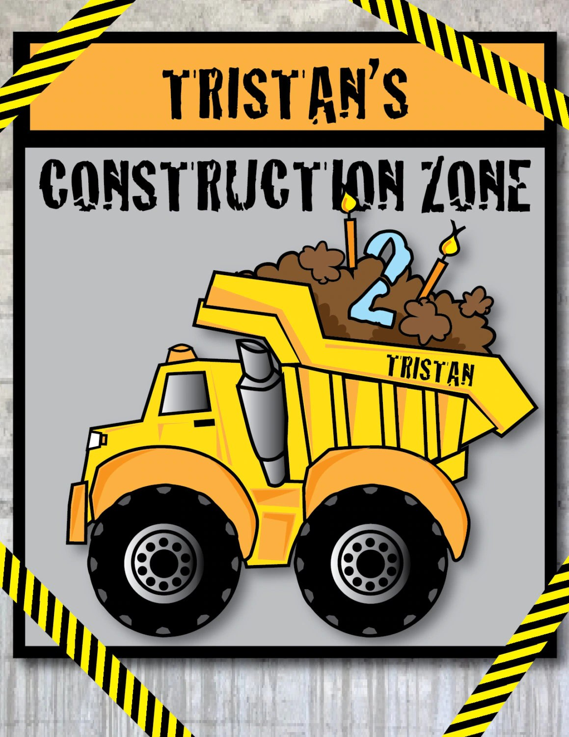 Diy Printable Construction Truck Theme Birthday Party 3