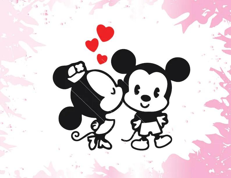 Download Disney SVG Disney Dxf Mickey and Minnie Svg Love Svg Heart ...