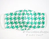 Preorder 3D Reusable Fabric Mask Cover ~ Green Birds Houndstooth ~Cotton Adjustable Mask ~ Kid Adult Washable Mask Cover ~Fabric Mask Sleeve