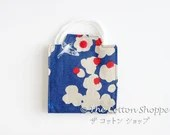 Preorder Fabric Mask Case Square ~ Birds and Clouds ~ Pleated Mask Carrier ~ Mask Holder ~ Japanese Canvas Fabric ~ Resuable Pleated Mask