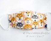 Preorder Dog 3D Boat Mask Cover ~ Adult Kid Oxford Cotton Mask ~ Shiba Inu Japanese Cotton Mask ~ Reusable Mask Cover ~ Washable Mask Cover