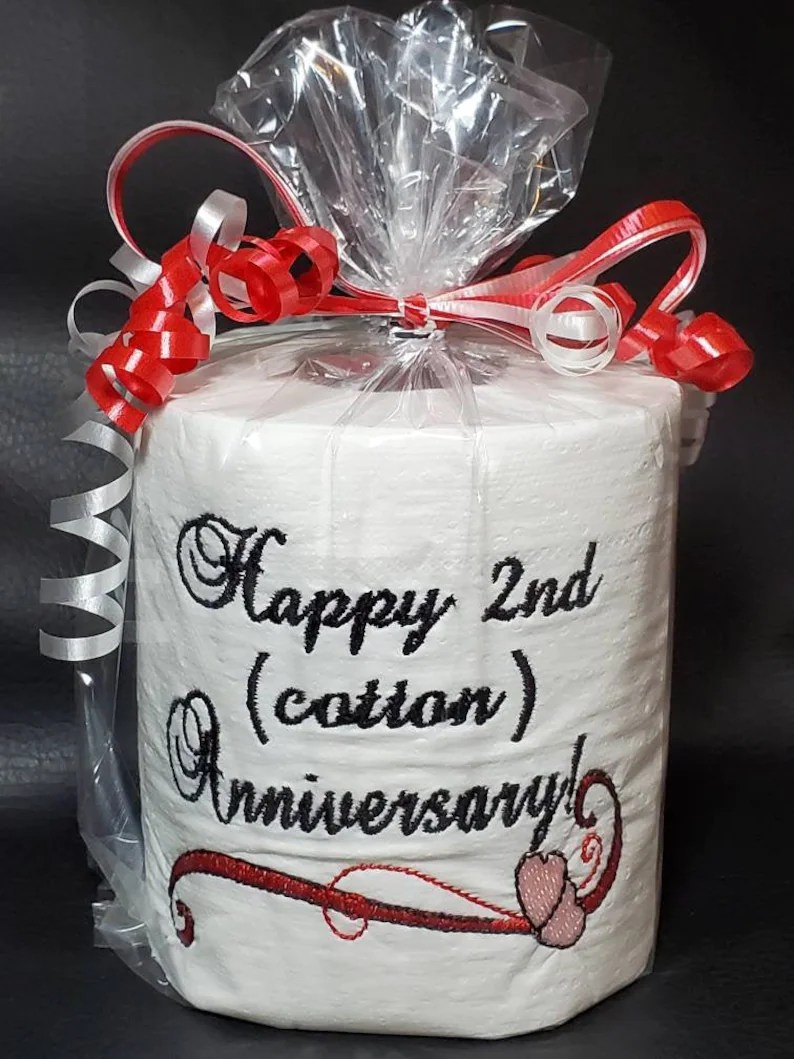 Second anniversary traditional cotton anniversary gift gag image 0