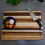 Solid Wood Cutting Board Hardwood Butcher Block Cutting Etsy