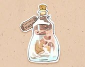 VINYL STICKER - Trousers finder potion, from Magikitty potion shop
