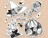 STICKER PACK - Beltane pagan witch, spring magic - 10 Matt Vinyl Stickers