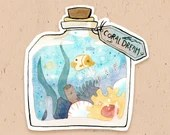VINYL STICKER - Coral dream potion, from Magikitty potion shop