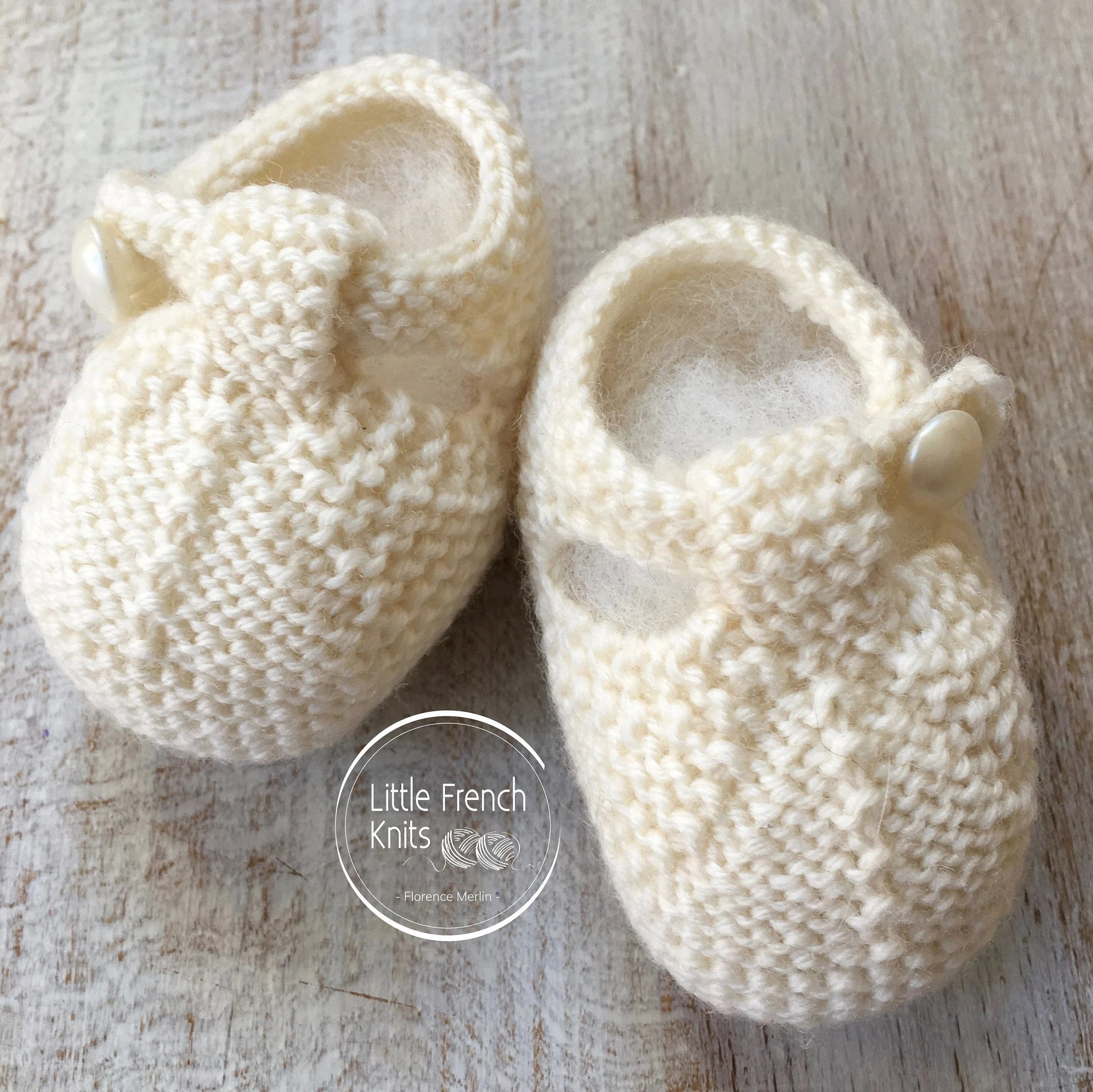 Knitting Pattern Baby Booties Instructions In English