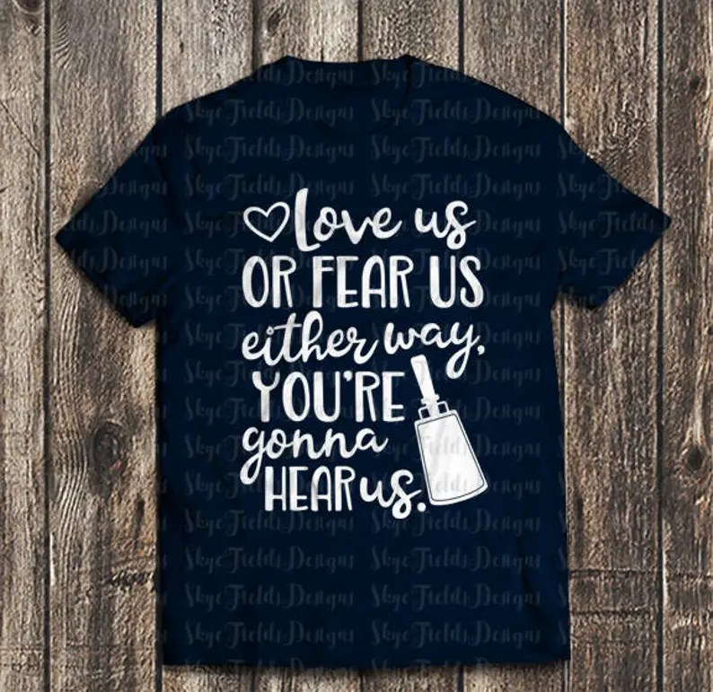 Download Love us or fear us You're gonna hear us Sports SVG JPG   Etsy