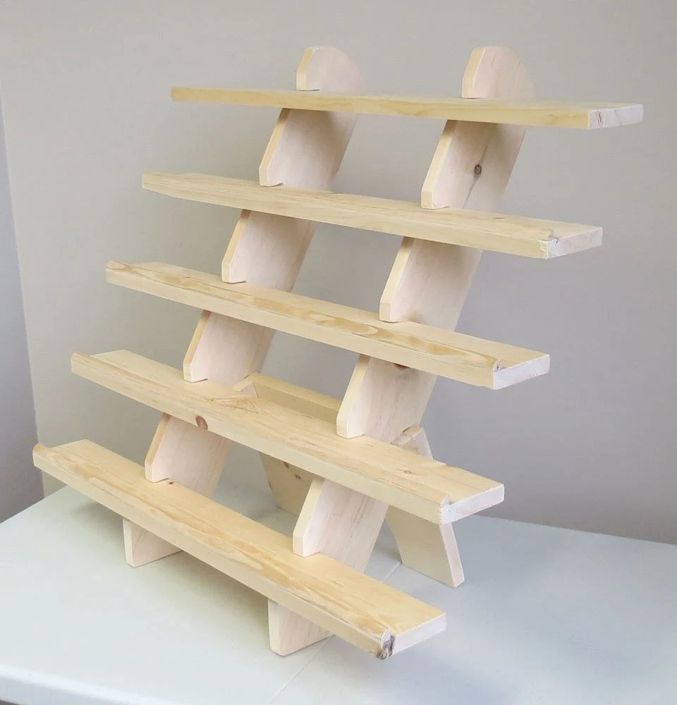 5 shelf 30 lipped extra wide portable tabletop display etsy
