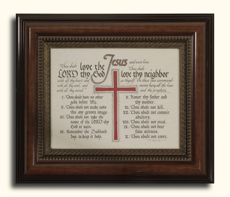The Ten Commandments Exodus 20 Kjv Hand Lettered
