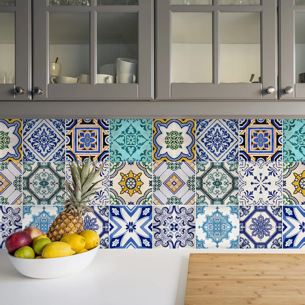 traditional spanish tile decals tile stickers set spanish etsy