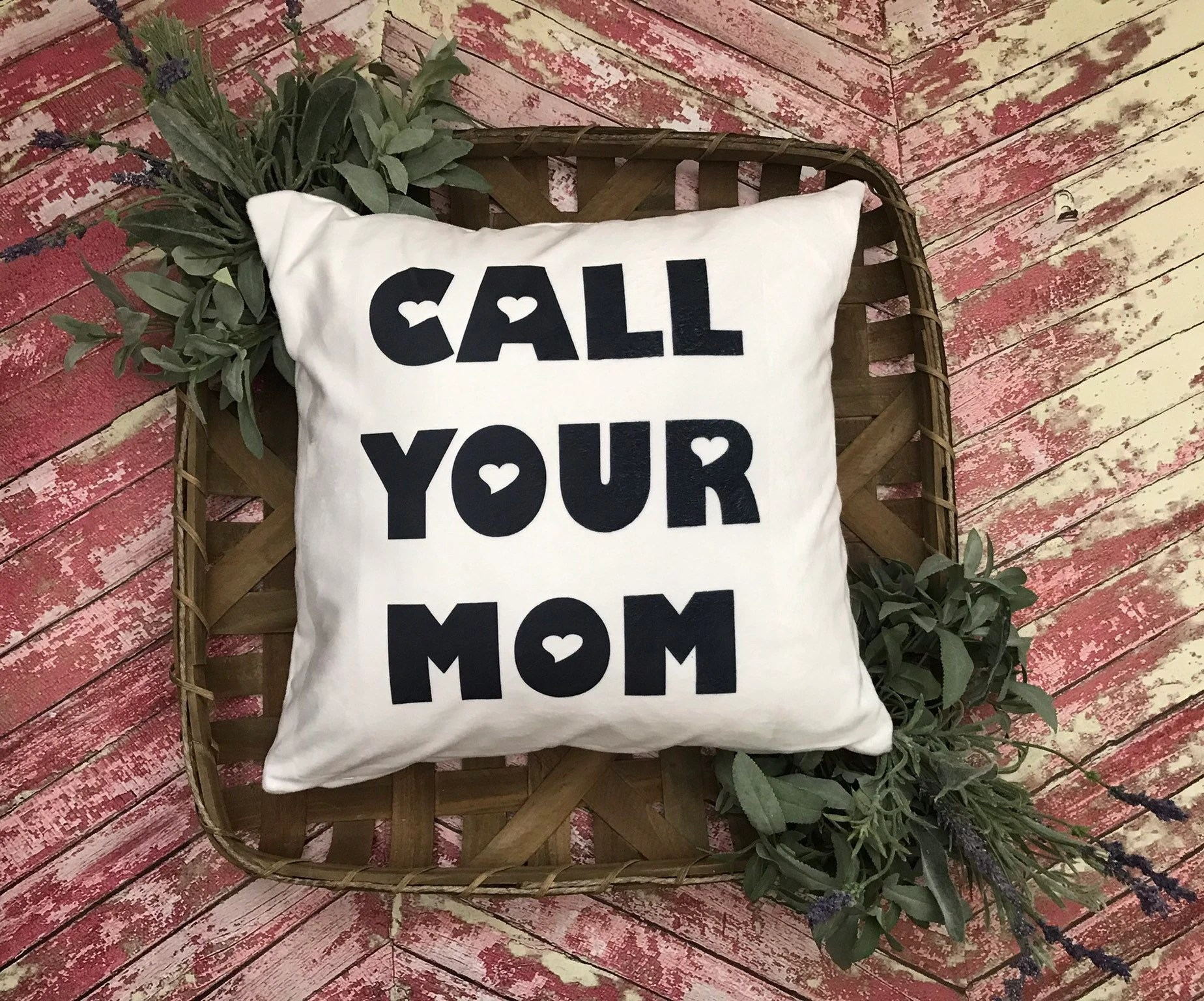 call your mom pillow etsy