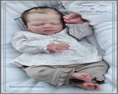 Reborn Babies - Custom Reborn Baby - Yona by Christa Gotzen  19 inches 5-7 lbs 3/4 arms & Full legs Custom Reborn Baby Doll. Vinyl.