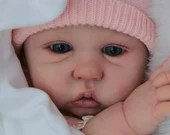 FREE Baby w/ Diamond Package - Custom Reborn Babies - Amy by Sandy Faber. 3/4 Limbs 22 Inches 7-9 lbs