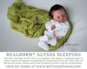 CuStOm Realborn® Alyssa Sleeping (18 Inches + Full Limbs)