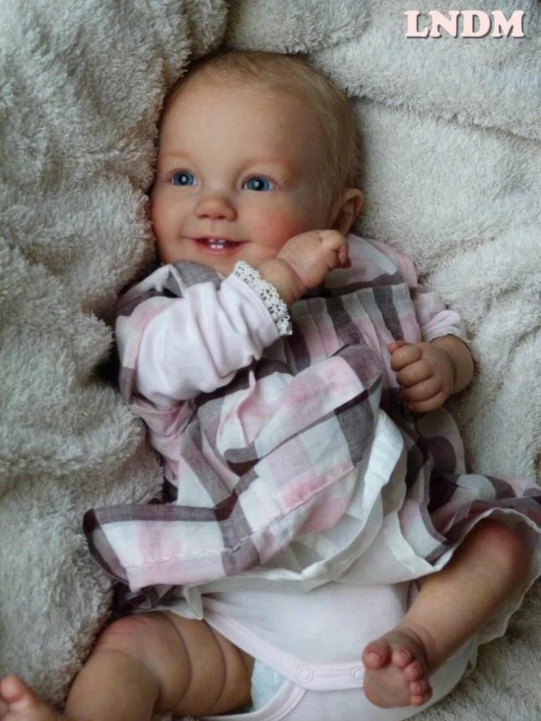 Reborn Babies - Custom Reborn Baby - Emilia by Ping Lau  20 inches  5-7 lbs  Full arms  full legs  Custom .Custom Reborn Baby Doll. Vinyl.