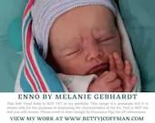 "Brand New CuStOm ReBoRn Enno by Melanie Gebhardt (19""+Full Limbs)"
