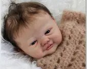 FREE Baby w/ Diamond Package - Custom Reborn Babies - Riley by Sy Faber 20 inches FULL BODY  cannot bathe
