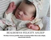 "CuStOm ReBoRn Realborn® Felicity Asleep (19""+Full Limbs)"