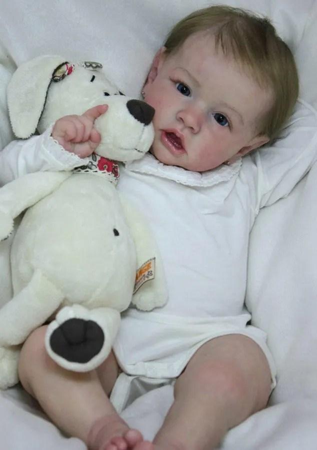 Reborn Babies - Custom Reborn Baby - Saskia by Bonnie Brown Full Limbs 23 inches 7-9 lbs  Custom .Custom Reborn Baby Doll. Vinyl.