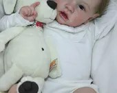 FREE Baby w/ Diamond Package - Custom Reborn Babies - Saskia by Bonnie Brown Full Limbs 23 inches 7-9 lbs