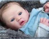 CUSTOM ORDER Reborn Doll Baby Girl or boy Carmen by Adrie Stoete 18 inches with Full Limbs 4-6 lbs. (Reborn Babies)