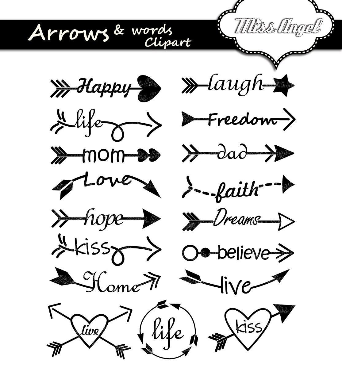 Arrows Words Clipart Arrow Words Clip Art 17 Digital