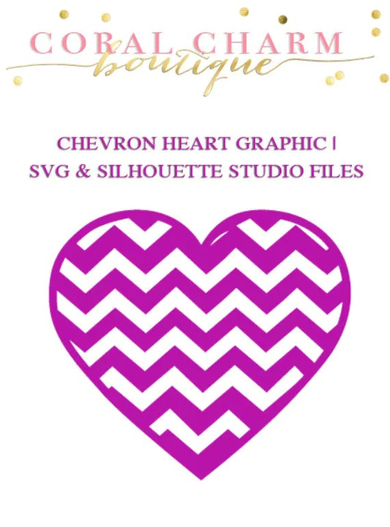 Download Chevron Heart Graphic File for Cutting Machines SVG and   Etsy