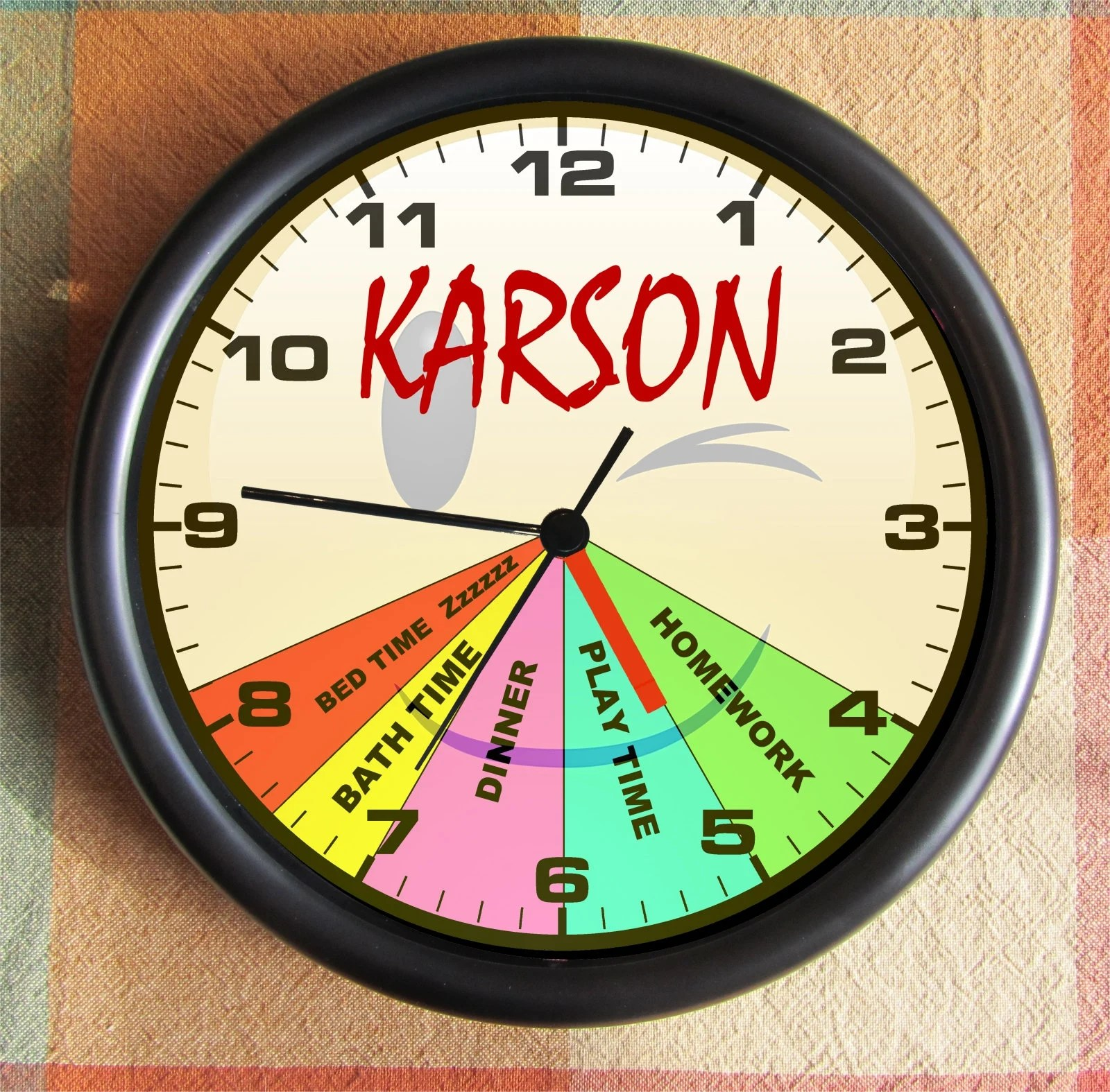 Kids Schedule Your Childs Customized Schedule On A Clock