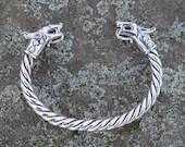 Saxon Wolf Torc Bracelet