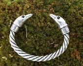 Huginn & Muninn Silver Bracelet