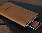 Genuine Leather iPhone 8, 7, 6 / iPhone 8 Plus, 7 Plus, 6 Plus Case (Light Brown)
