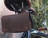 Genuine Leather Bike Tool Bag / Saddle Bag / Cycling Bag / Tool Case
