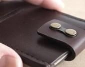 Leather Minimal Wallet / Minimalist Wallet / Minimalism / Card Holder / Slim Card Case (Dark Brown)