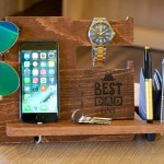 Mens Desk Organizer Nightstand Organizer Mens Wood Valet Iphone Charging Station Personalized Valet Groomsmen Gift Night Stand Valet