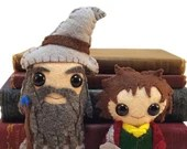 Bilbo and Gandalf plushies (made to order)