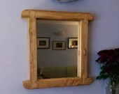 pale wooden wall mirror,e...