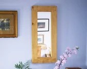 tall wooden wall mirror, ...