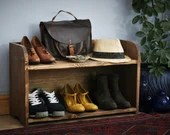 Wooden shoe bench & shoe ...