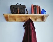 Long wood shelf with hook...