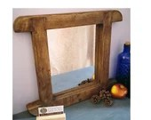 rustic wood wall mirror, ...