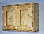 wooden wall cupboard for hallway, home office, utility, custom meter cupboard, rustic cottage farmhouse, natural wood, handmade Somerset UK